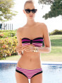 Bikini Strapless in stripes