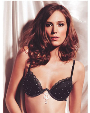 Ellipse Nuit Bra over ring with Swaroski Crystals