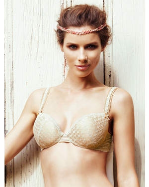 Ellipse Golden bra low cut