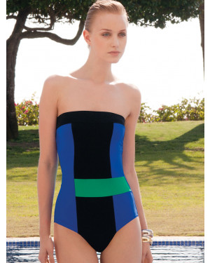 Strapless One Piece Swimsuit Block
