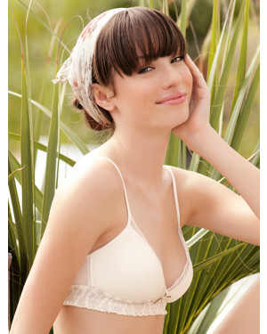 Touche triangle non-wired cup bra and semi-thong set