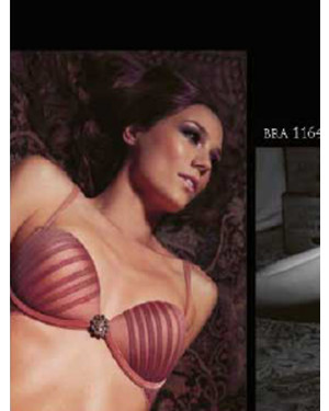 Luxury Bra Push-up in wine