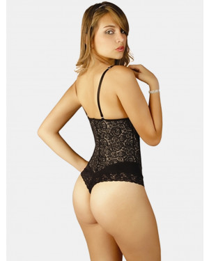 Karla Strapless Lace Bodysuit in Thong